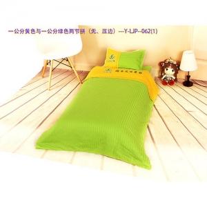 贝比佳/幼儿园全棉六件套/一公分黄色与一公分绿色两节拼(压边)--Y-LJP--062图片
