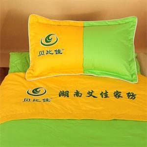 贝比佳/幼儿园全棉六件套/平板黄色与平板果绿色两节拼(压边)--Y-LJP--059图片