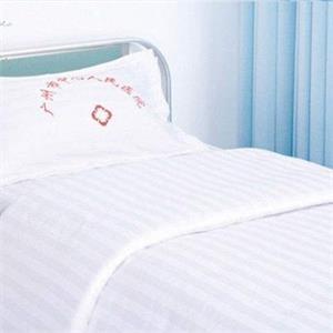 贝比佳/一公分白色缎条/医院床上用品全棉三件套图片