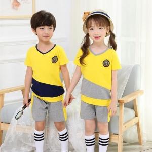 幼儿园园服夏季短袖学院风运动服校服男女童装韩版套装小学生班服图片