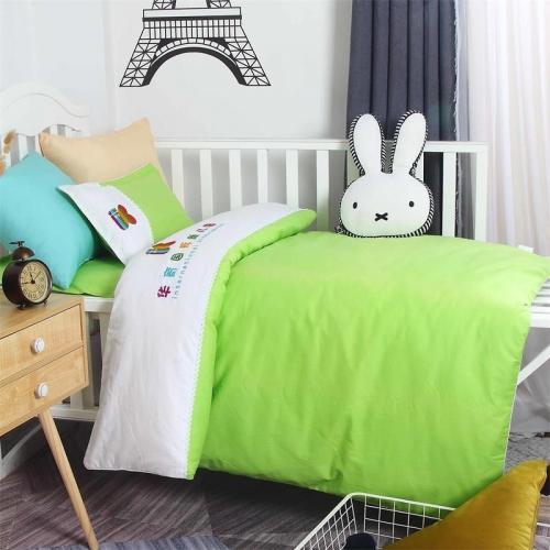 贝比佳华育国际六件套幼儿园全棉套件刺绣套件批发定制图片