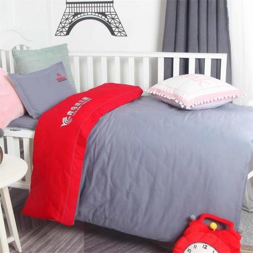 贝比佳青鸟六件套幼儿园床上用品儿童套件纯棉斜纹个性化定制刺绣图片