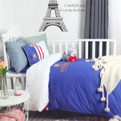 贝比佳名优贝贝纯棉个性定制英伦时尚系列幼儿园床上用品套件批发定制图片