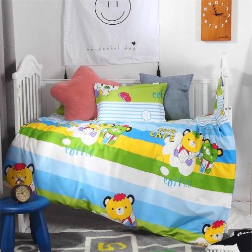 贝比佳活性印花卡通印花全棉儿童套件批发定制图片