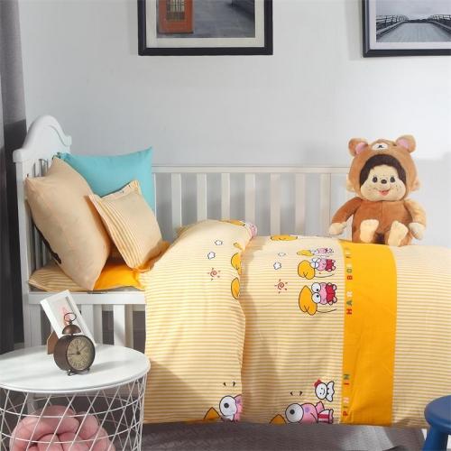贝比佳青蛙王子经典卡通活性印花幼儿园床上用品套件批发定制图片