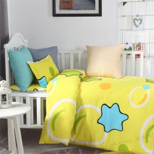 贝比佳黄海星经典卡通活性印花幼儿园床上用品套件批发定制图片
