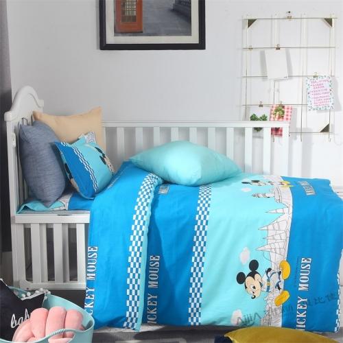 贝比佳米奇城堡经典卡通活性印花幼儿园床上用品套件批发定制图片