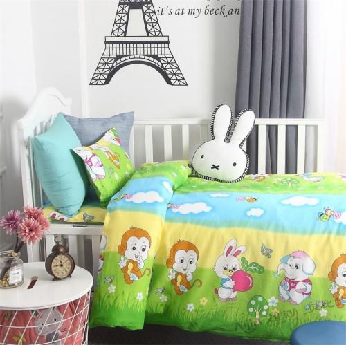 贝比佳欢乐谷卡通印花六件套幼儿园全棉套件批发定制图片