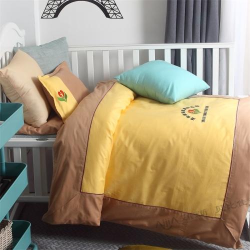 贝比佳幼儿园拼接绣花六件套全棉儿童套件批发定制图片