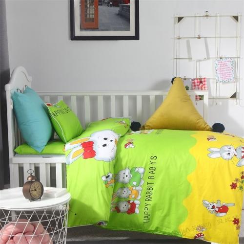 贝比佳兔宝宝六件套幼儿园全棉套件批发定制图片